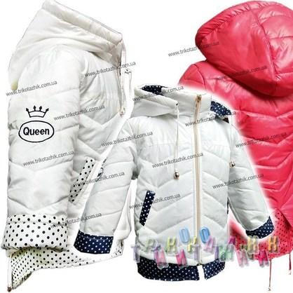 Куртка для девочки Queen. Сезон весна-осень (Украина)