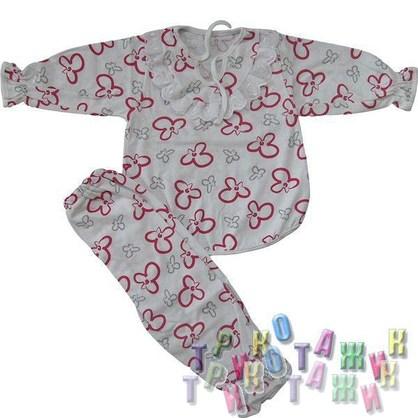 """Пижама для девочки """"Мальвина"""" с кружевом кулир цветной"""