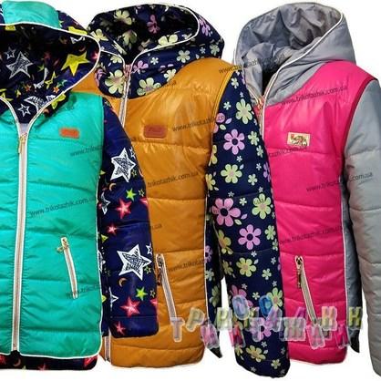 Куртка-жилетка для девочки, модель 1017. Сезон Весна-Осень