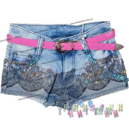 Шорты джинсовые для девочки, м. 580119