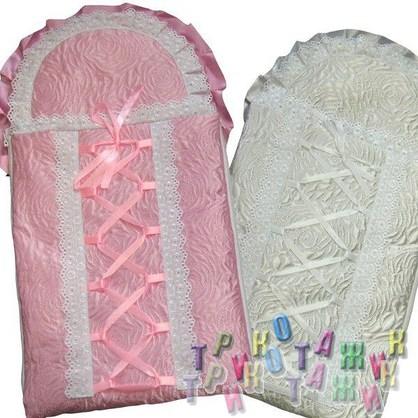 Конверт для новорожденного со шнуровкой