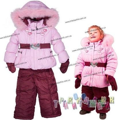 Комбинезон зимний для девочки м. Е-235