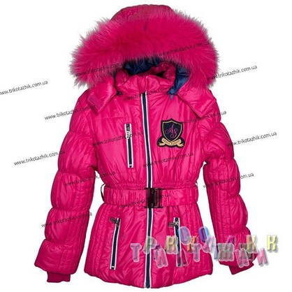 Куртка для девочки м. Е-136. Сезон Зима.