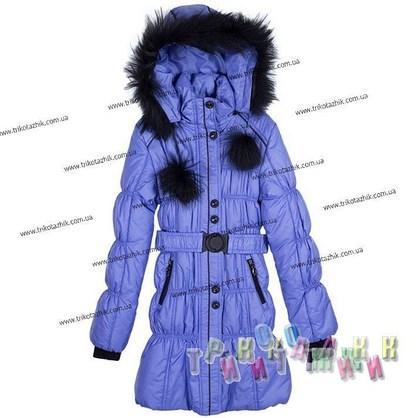 Пальто для девочки м. 212207. Сезон Зима.
