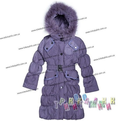 Пальто для девочки м. Е-148. Сезон Зима.
