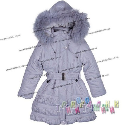 Пальто для девочки м. 306-506. Сезон Зима.