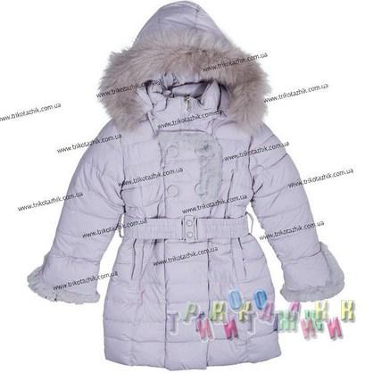 Пальто для девочки м. 1353. Сезон Зима.