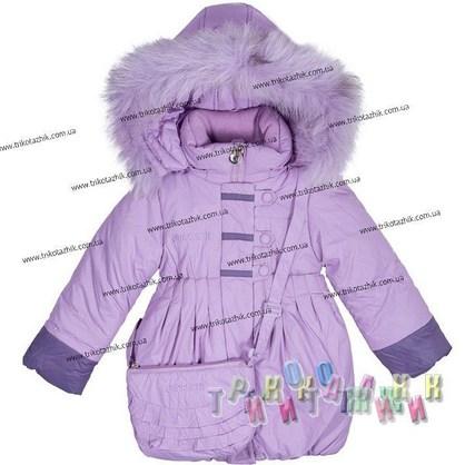 Пальто для девочки м. 1313. Сезон Зима.
