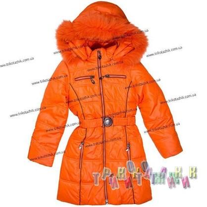 Пальто для девочки м. 306-525. Сезон Зима.