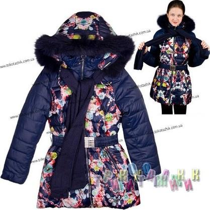 Пальто для девочки м. 306-515. Сезон Зима.