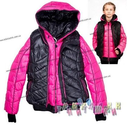 Куртка 2-ка для девочки м. 24418. Сезон Зима.