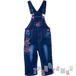 Комбинезон джинсовый утеплённый для девочки м. 1546