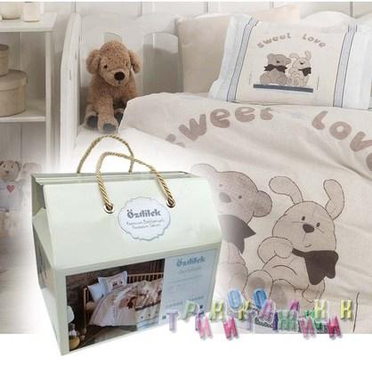 Комплект детского постельного белья Bear&Rabbit с одеялом