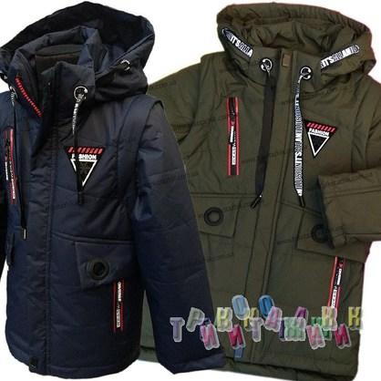 Куртка-жилетка для мальчика, модель 811. Сезон Весна-Осень.