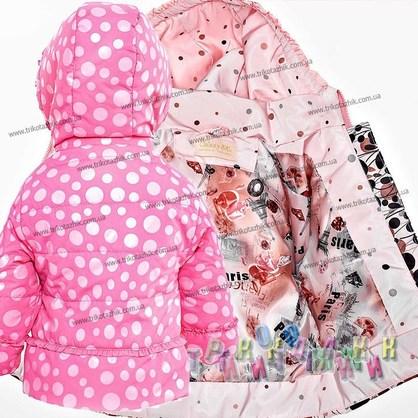 Куртка для девочки Манго с рисунками. Сезон весна-осень (Украина)