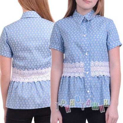 Блуза школьная Хризантема