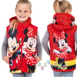Мультяшная жилетка Mini mickey red