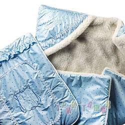Тёплый конверт-одеяло для новорожденного, мех