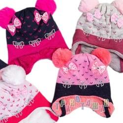Теплая шапка для девочки на зиму (м.1138)