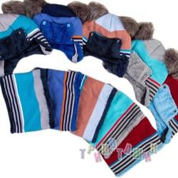 Комплект шапка и снуд на зиму для малышей (м.1225)