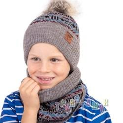 Зимний комплект для мальчика с помпоном (м.1385)