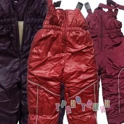Зимние штаны на бретелях для девочки
