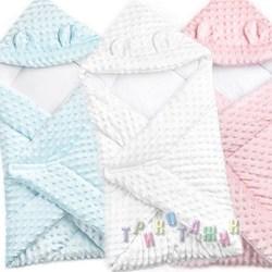Конверт-одеяло с капюшоном для новорожденного, плюш