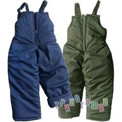 Зимние штаны на бретелях для мальчика