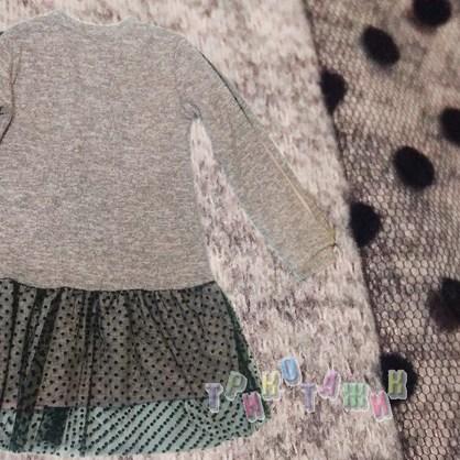Платье для девочки, однотонное