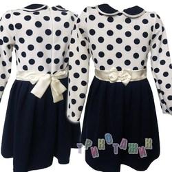 Нарядное платье для девочки, в горох