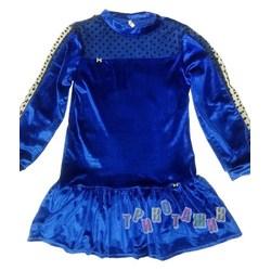Платье для девочки, велюровое