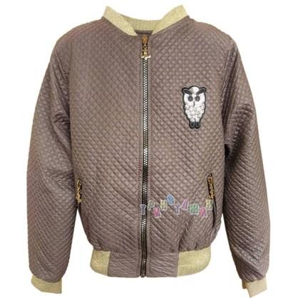 Куртка-бомбер для девочки, Шоколад. Сезон Весна-Осень