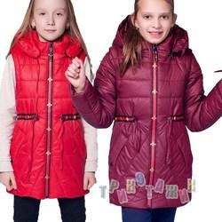 Куртка-жилетка для девочки, Анжелика. Сезон весна-осень