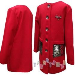 Пальто детское для девочки, Love
