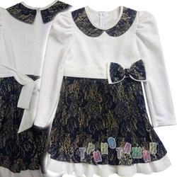 Нарядное платье для девочки, Золотце