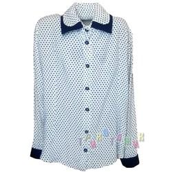 Блуза школьная в горох