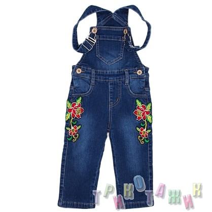 Комбинезон джинсовый утеплённый для девочки м.33944