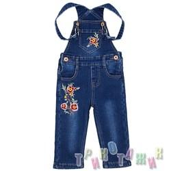 Комбинезон джинсовый утеплённый для девочки м.33943