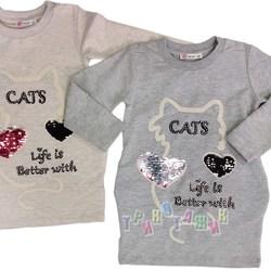 Туника для девочки, Cats