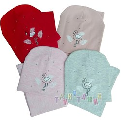 Комплект шапка и хомут, Фламинго