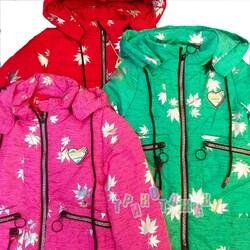 Куртка демисезонная, с листочками