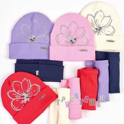 Комплект детский, шапка и хомут, Flower