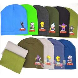 Комплект детский, шапка и хомут, Brawl Stars