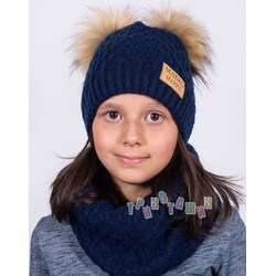 Комплект детский, шапка и хомут, Ирина