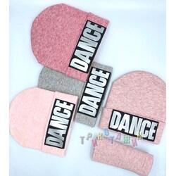 Комплект зимний для девочки, шапка и хомут, Dance