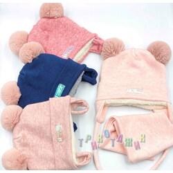 Комплект для девочки, шапка на завязках и хомут, N5