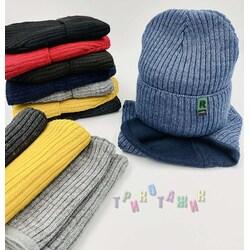 Комплект детский, шапка и хомут, МЗ1621