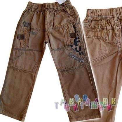 Котоновые брюки Boys. Цвет: горчичный