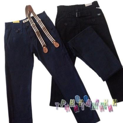 Котоновые брюки с подтяжками для мальчика