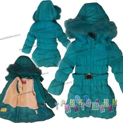 Куртка-пальто с рюшами. Сезон Зима.